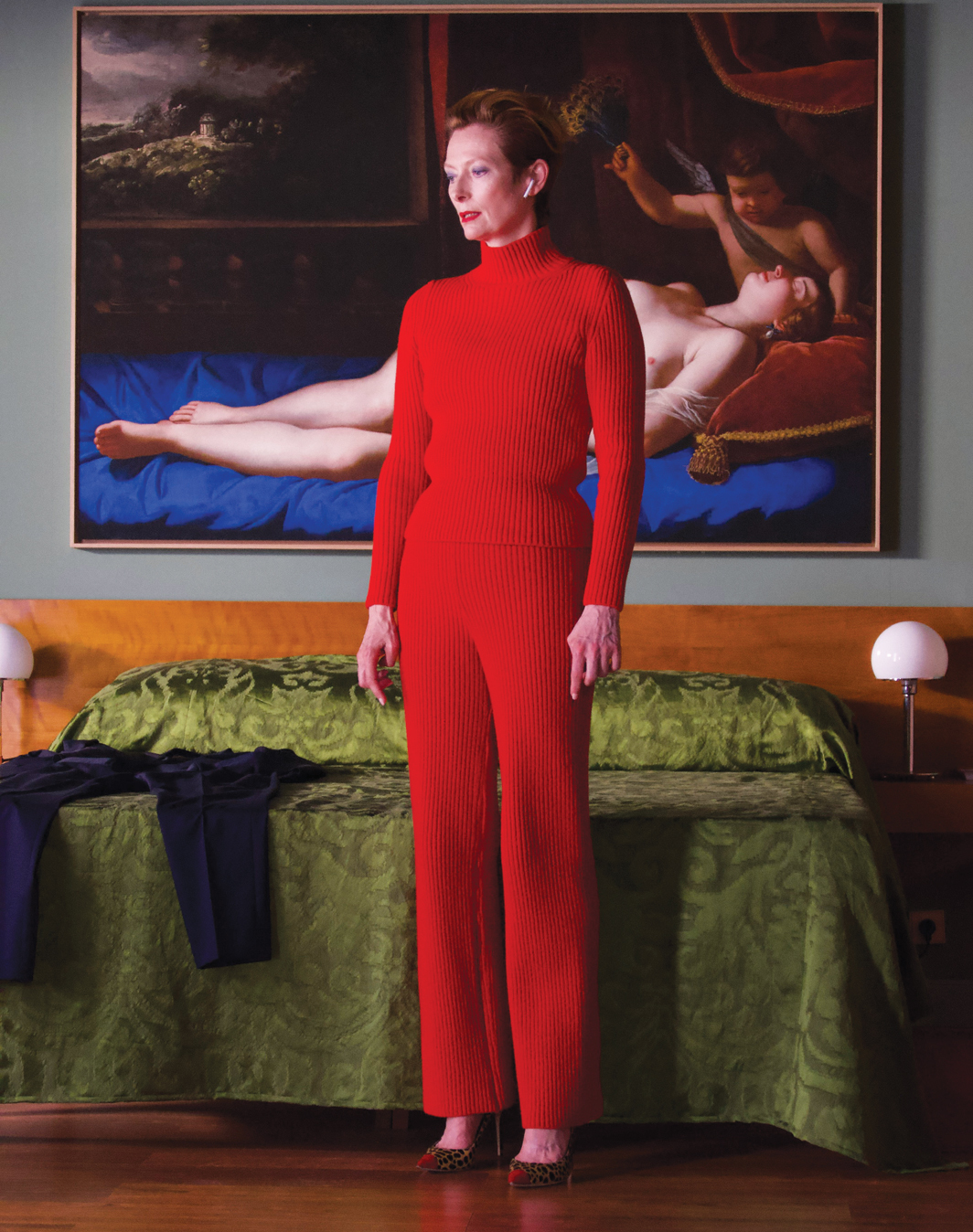 Pedro Almodóvar, The Human Voice, 2020, 4K video, color, sound, 30 minutes. Woman (Tilda Swinton). Production still.