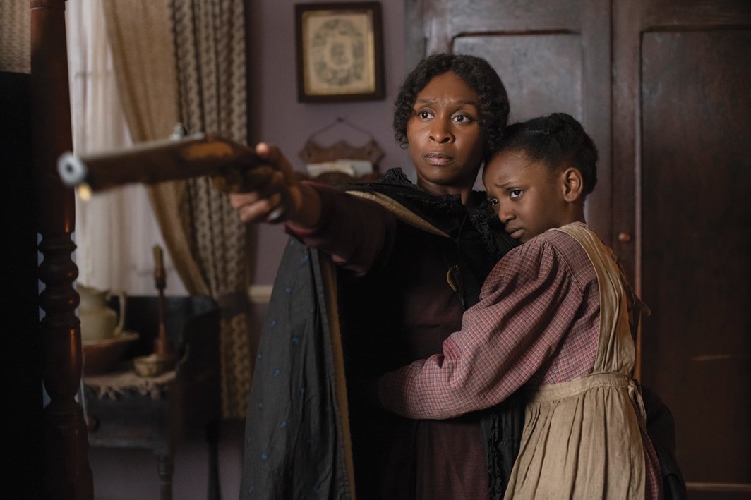 Kasi Lemmons, Harriet, 2019, 2K video, color, sound, 125 minutes. Harriet Tubman (Cynthia Erivo) and Anger (Aria Brooks).