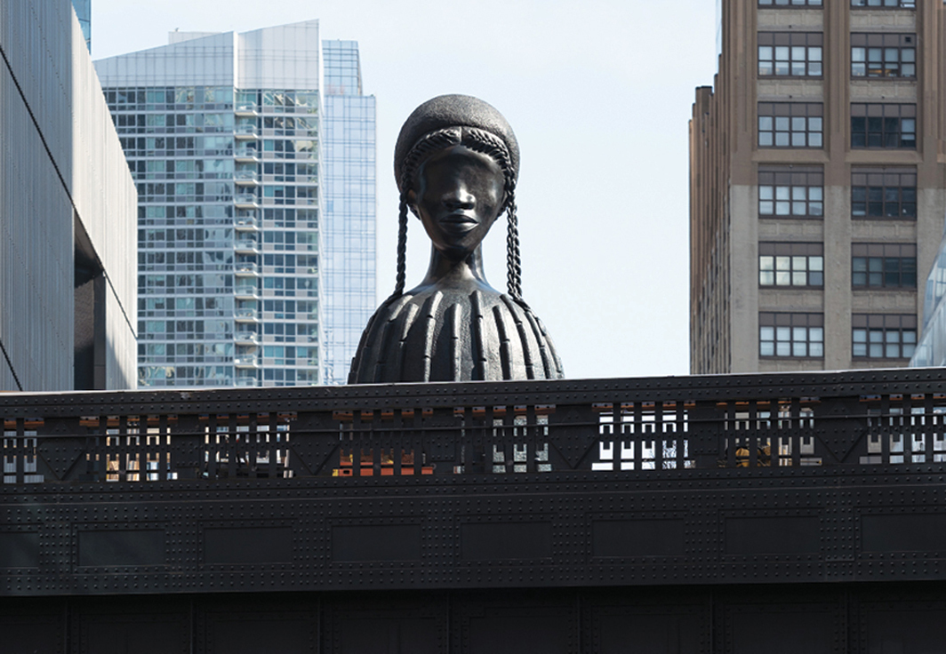 Simone Leigh, Brick House, 2019, bronze. Installation view, High Line Plinth, New York. Photo: Timothy Schenck.
