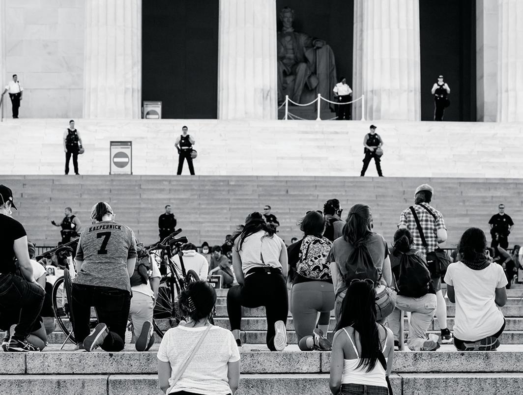 Vigil for George Floyd, Lincoln Memorial, Washington, DC, May 31, 2020. Photo: Victoria Pickering/Flickr.