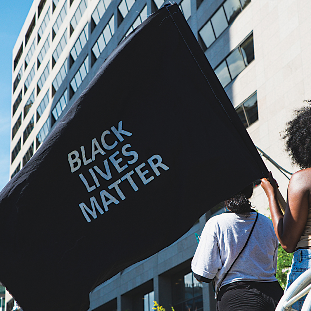 Black Lives Matter protest, Toronto, June 19, 2020. Photo: Jason Hargrove/Flickr.