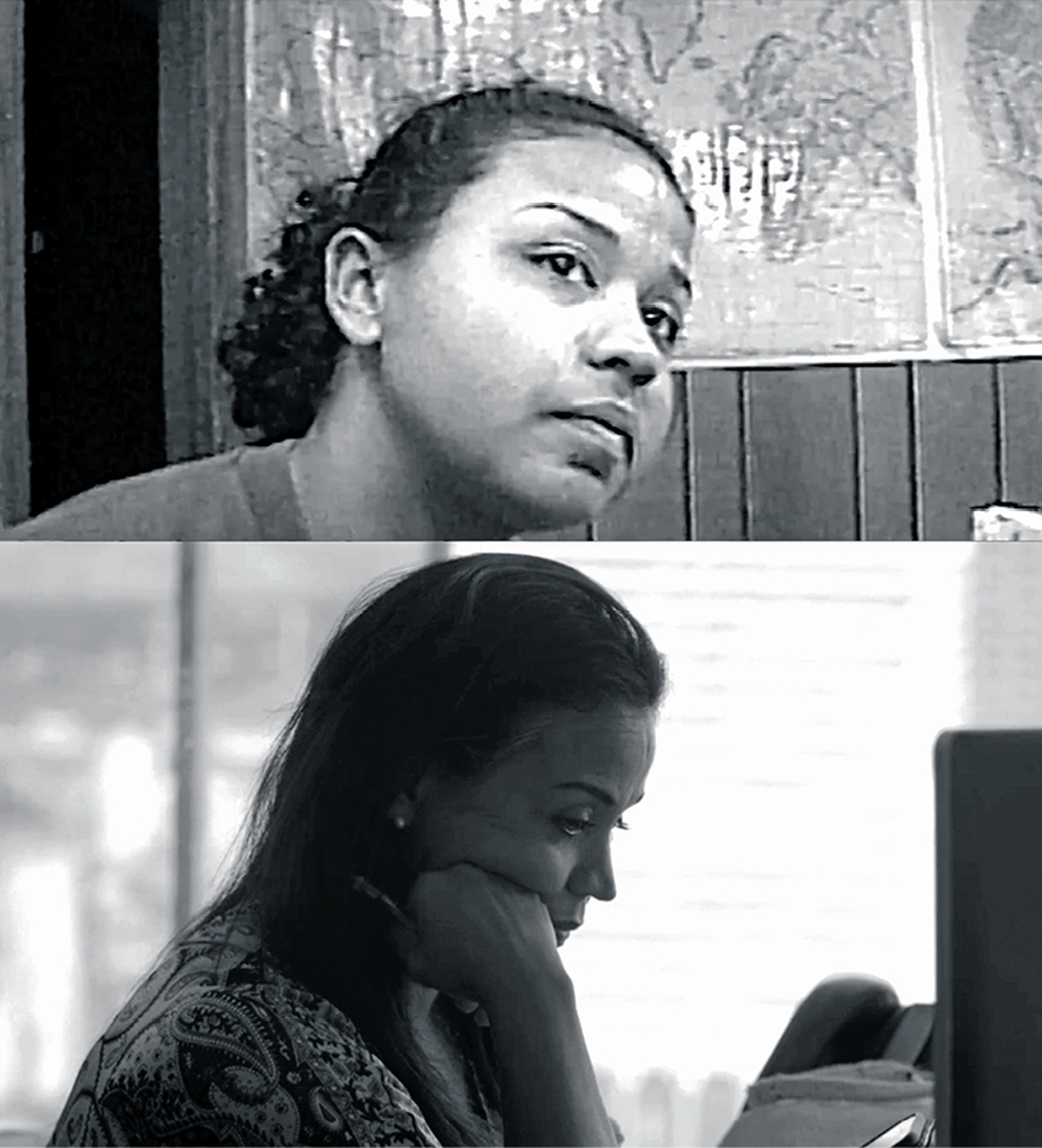 Two stills from Garrett Bradley's Time, 2020, HD video, black-and-white, sound, 81 minutes. Fox Rich.