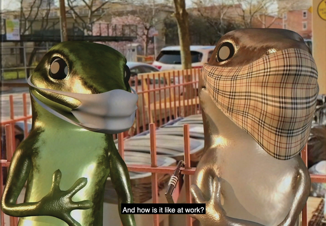 Orian Barki and Meriem Bennani, 2 Lizards: Episode 4, 2020, HD video, color, sound, 2 minutes 50 seconds.