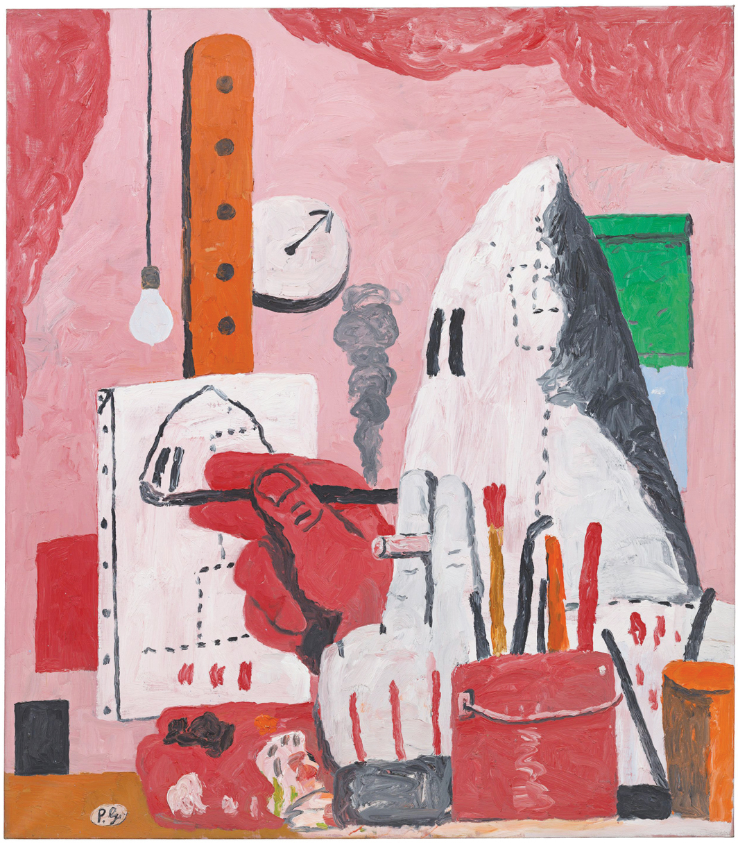 "Philip Guston, The Studio, 1969, oil on canvas, 73 1/4 × 71"". © The Estate of Philip Guston."