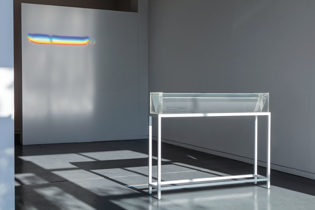 "Charles Ross, Untitled (Beam), 1968, acrylic, oil, adhesive, 48 × 8 × 9"". From the series ""Prisms,"" ca. 1965–68."