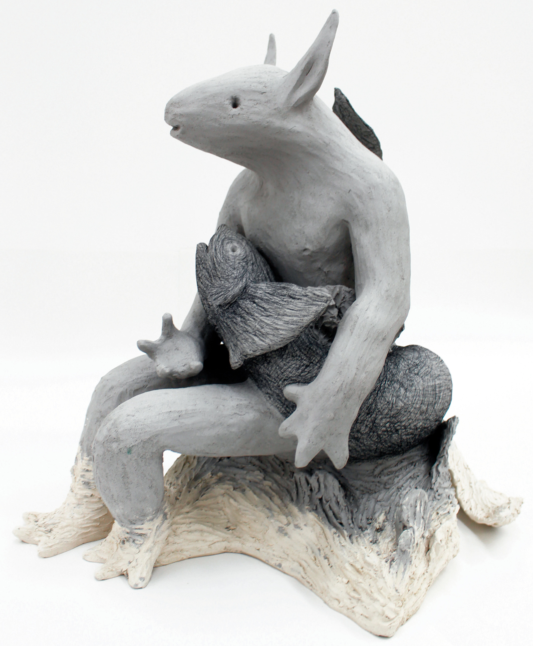 "Elsa Guillaume, Tritons VIII, 2020, ceramic, 21 1/4 × 17 3/4 × 25 1/2"". From the series ""Tritons,"" 2020."