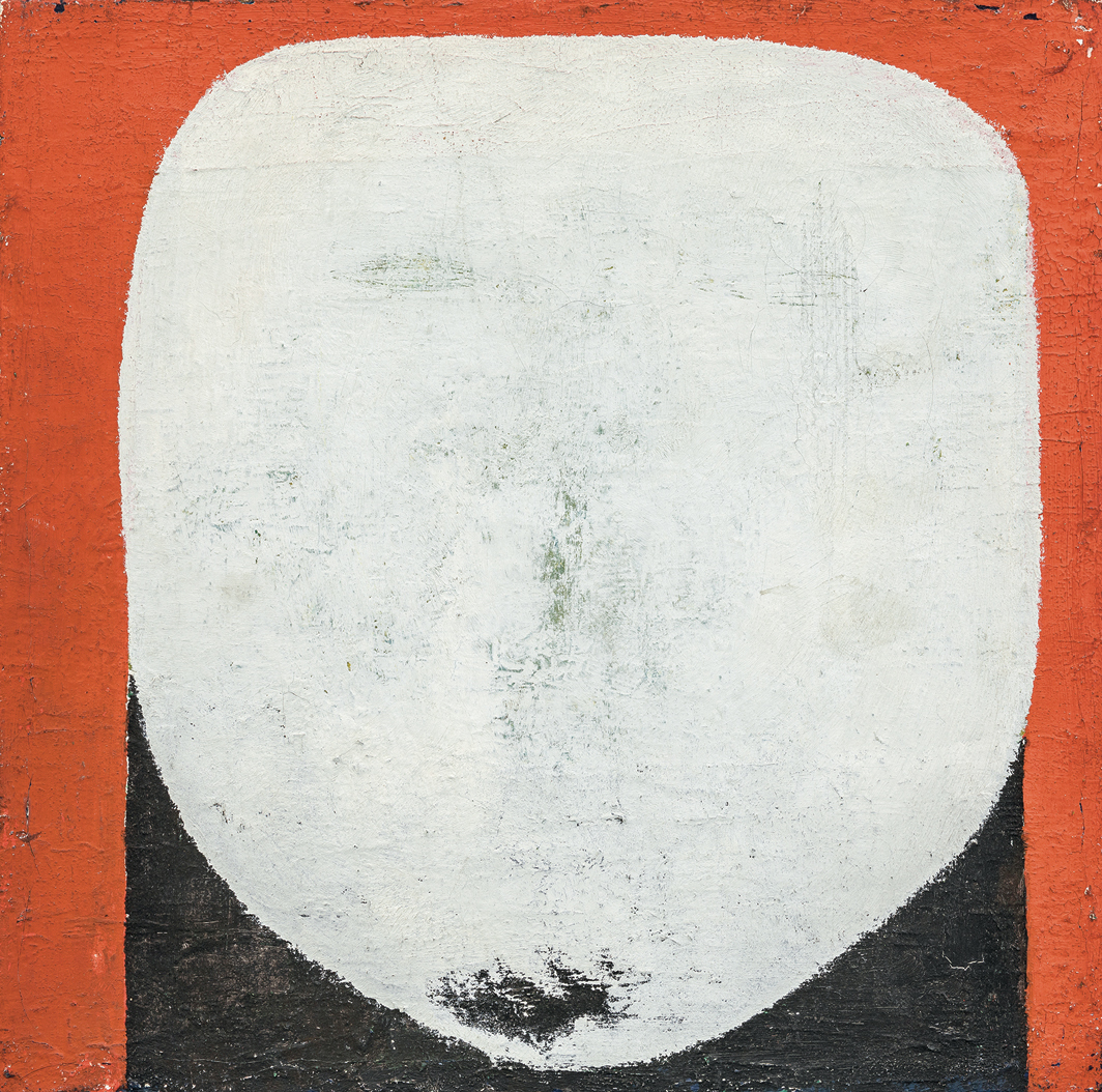 "Zbyněk Sekal, Kopf, 1962, oil on canvas, 10 × 10""."