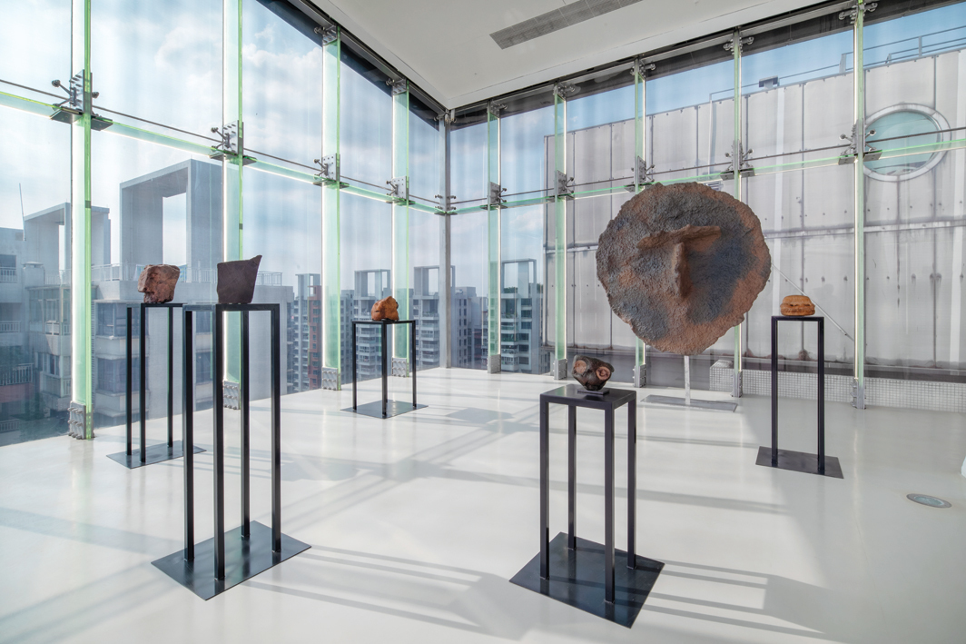 "Wang Sishun, Apocalypse, 2016–, copper, stone, aluminum, dimensions variable. From ""Study of Things."""