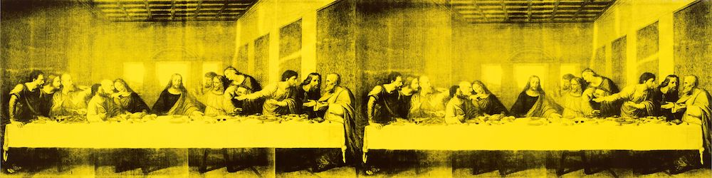 """Andy Warhol, The Last Supper, 1986, synthetic polymer paint and silkscreen ink on canvas, 78 x 306"""" © The Andy Warhol Foundation for the Visual Arts, Inc. / Artists Rights Society (ARS), New York."""