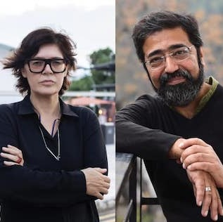 Ute Meta Bauer, Amar Kanwar, and David Teh. Photo: Istanbul Biennial.