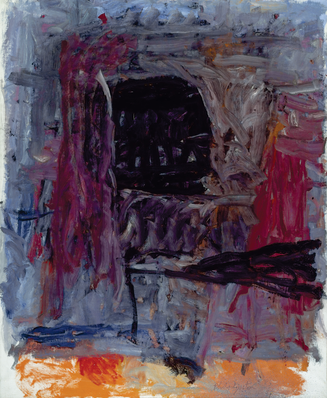 "Philip Guston, Painter II, 1959–60, oil on canvas, 69 × 57"". © The Estate of Philip Guston."