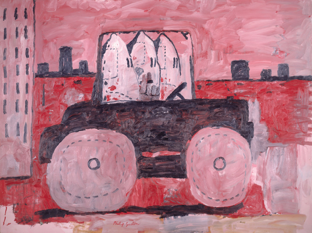 "Philip Guston, City Limits, 1969, oil on canvas, 77 × 103 1/4"". © The Estate of Philip Guston."