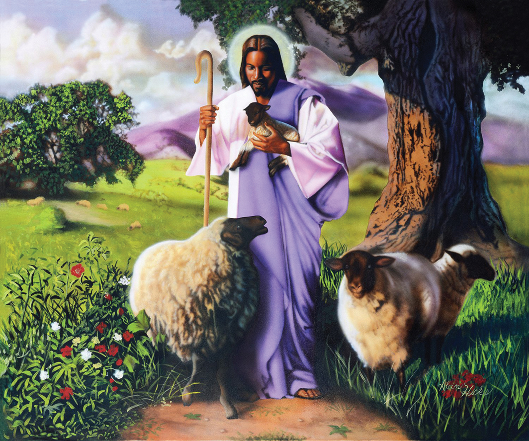 "Alan Hicks, Good Shepherd, 2003, lacquer and acrylic on canvas, 30 × 40""."