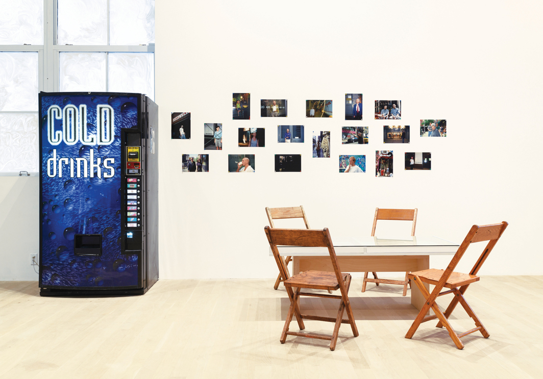 "View of ""ART CLUB2000: Selected Works 1992–1999,"" 2020–21, Artists Space, New York. Reinstallation of ""SoHo So Long,"" 1996. Photo: Filip Wolak."
