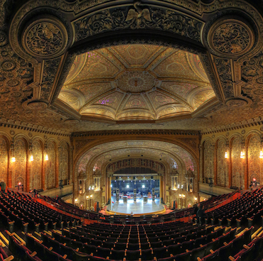 United Palace theater in Washington Heights, New York.