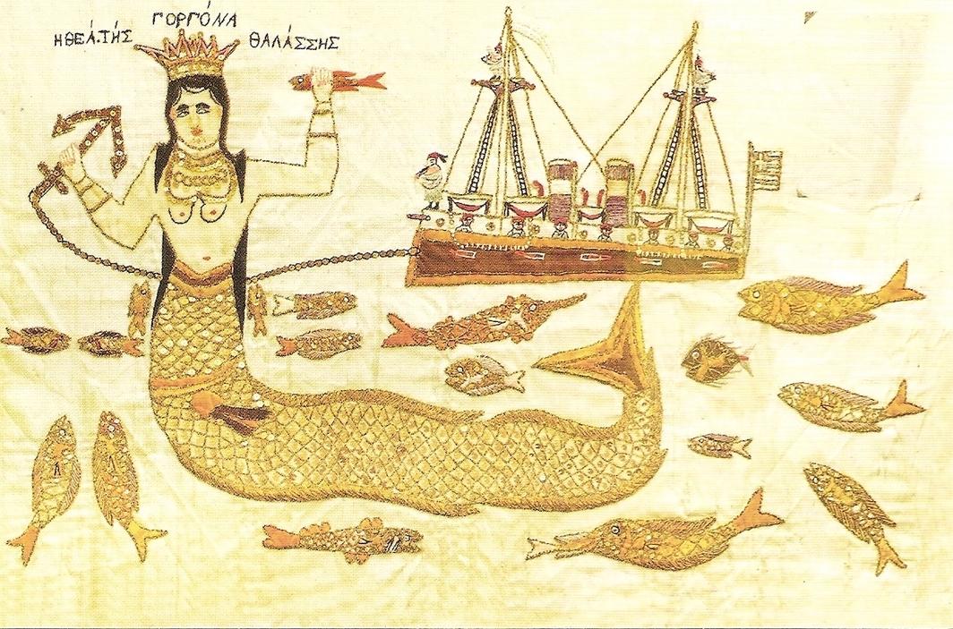 Mermaid, Goddess of the Sea, artist unknown, Historical Museum of Crete, Heraklion, Greece.
