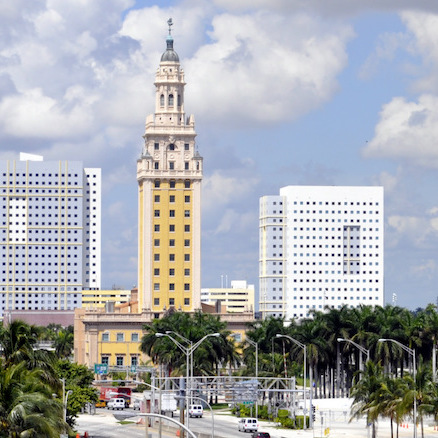 Miami's Freedom Tower, which contains the Miami Dade College Museum of Art and Design.