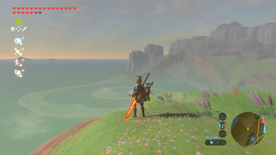 Screenshot from Legend of Zelda: Breath of the Wild (2017).