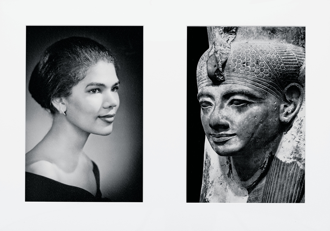 "Lorraine O'Grady, Miscegenated Family Album (Sisters IV), L: Devonia's sister, Lorraine; R: Nefertiti's sister, Mutnedjmet, 1980/1994, diptych, Cibachrome prints, overall 26 × 37"". From Miscegenated Family Album, 1980/1994. © Lorraine O'Grady/Artists Rights Society (ARS), New York."