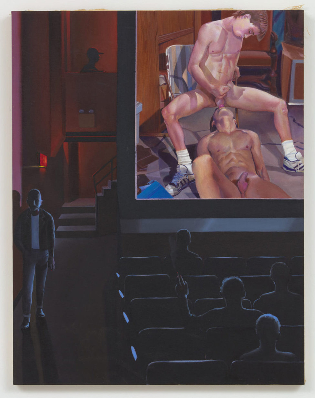 Patrick Angus, I Get Weak, 1991, oil and acrylic on canvas, 36 x 28 1/4.""