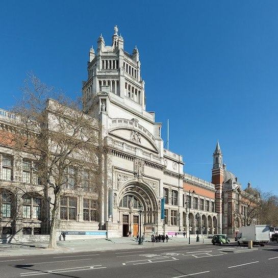 The main entrance of the Victoria & Albert Museum, London. Photo: David Iliff.