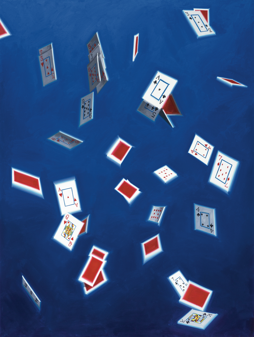 Luke O'Halloran, Cards in the air 07, 2020, oil on canvas, 73 × 55