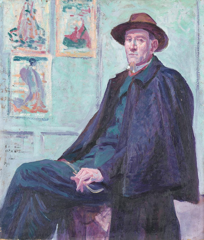 """Maximilien Luce, Félix Fénéon, 1901, oil on canvas, 18 × 15 3⁄8"""". © Artists Rights Society (ARS), New York/ADAGP, Paris."""