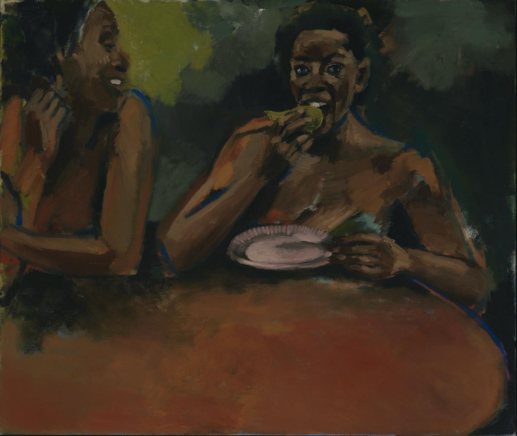 Lynette Yiadom-Boakye, Quorum, 2020, oil on linen, 33 1/2 x 39