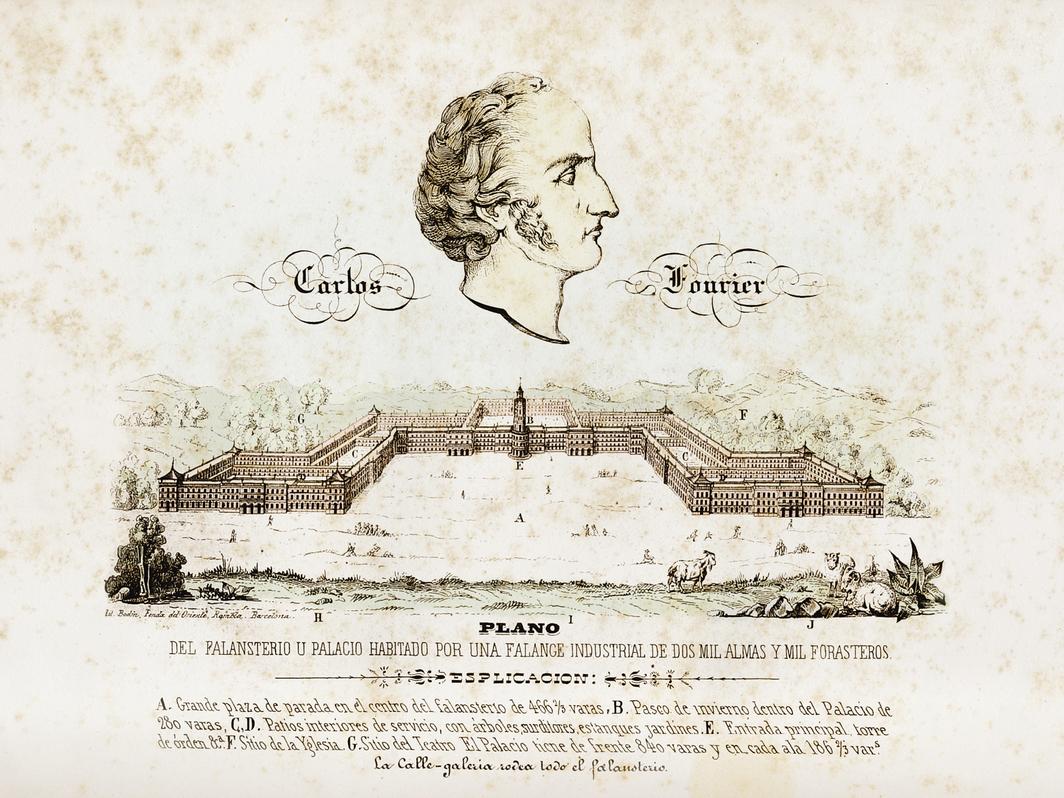*Charles Fourier's _Phalanstère _(Phalanstery) plan, 19th century. *Photo: Fototeca Gilardi/akg-images.