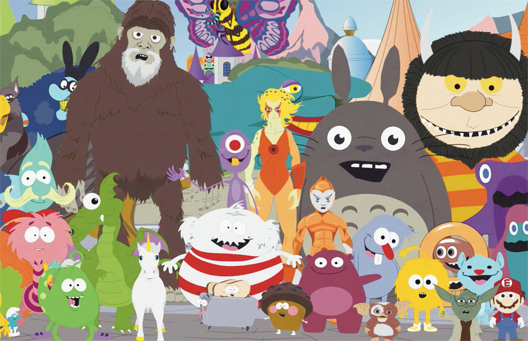 """*_South Park_, 1997–, *still from a TV show on Comedy Central. Season 11, episode 10, """"Imaginationland."""""""