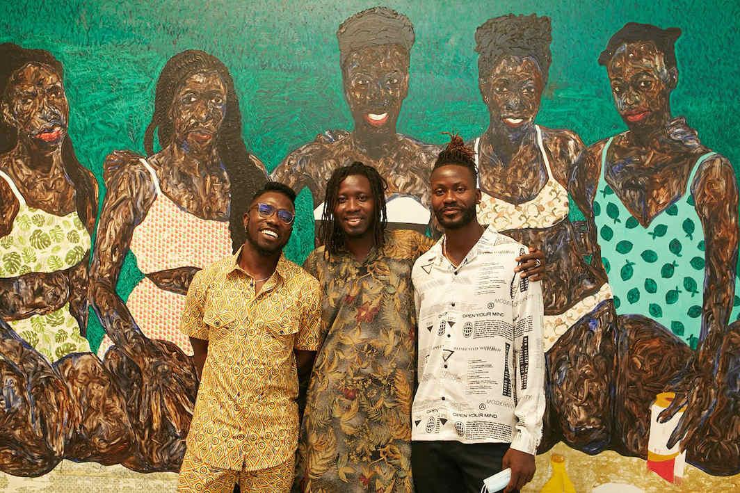 Otis Quaicoe, Kwesi Botchway, and Amoako Boafo. All photos unless noted: Nii Odzenma.