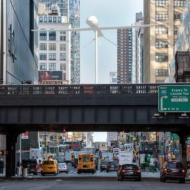 Rendering of Sam Durant's Untitled (drone), 2021. Photo: High Line Art.