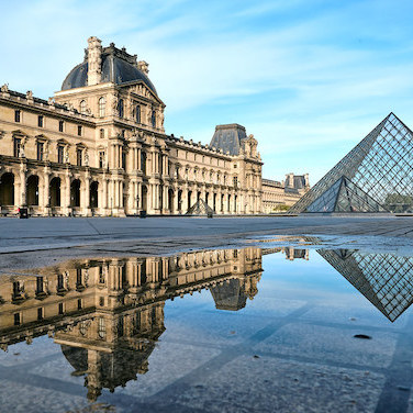 The Louvre in Paris. Photo: Pedro Szekely/Flickr.