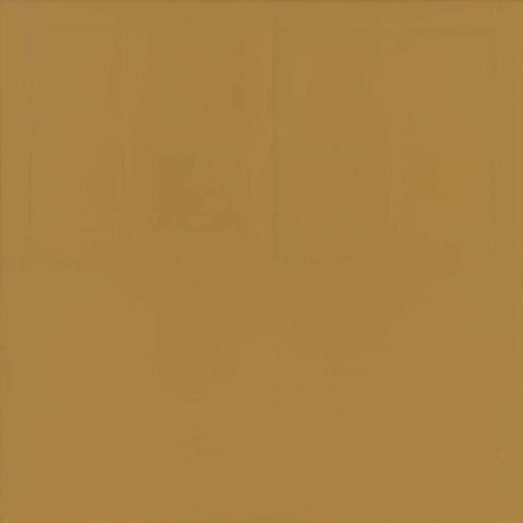 "James Bishop, Closed, 1974, oil on canvas, 73 1⁄8 × 73 3⁄8"". © James Bishop."