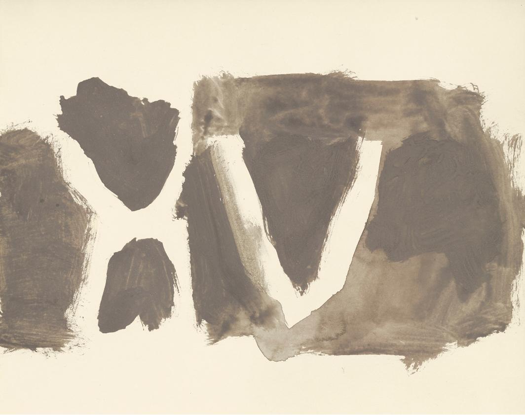 """James Bishop, Untitled, 1993, oil on paper, 9 1⁄2 × 12"""". © James Bishop."""