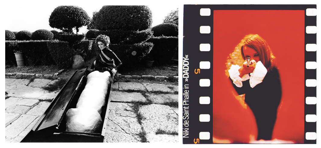 Still and film cell from Niki de Saint Phalle and Peter Whitehead's Daddy, 1973, 16 mm, color and black-and-white, sound, 90 minutes. Agnes (Niki de Saint Phalle).