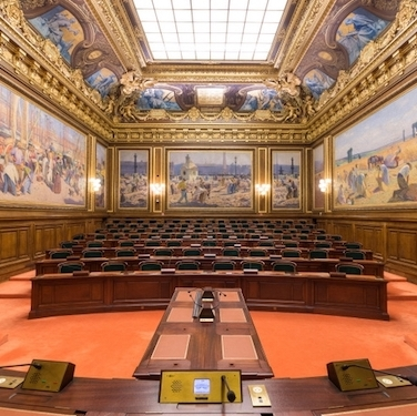 Inside the French Council of State in Paris. Photo: Coraliemaz/Wikipedia Commons.