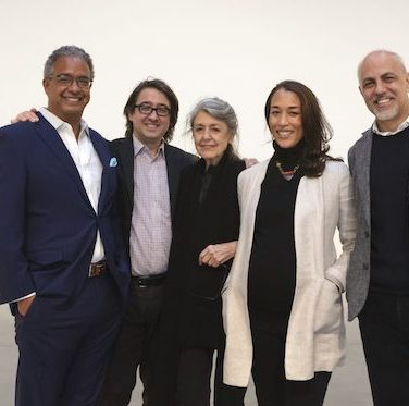 Steve Henry, Lucas Cooper, Paula Cooper, Alexis Johnson, and Anthony Allen. Photo: Paula Cooper Gallery.