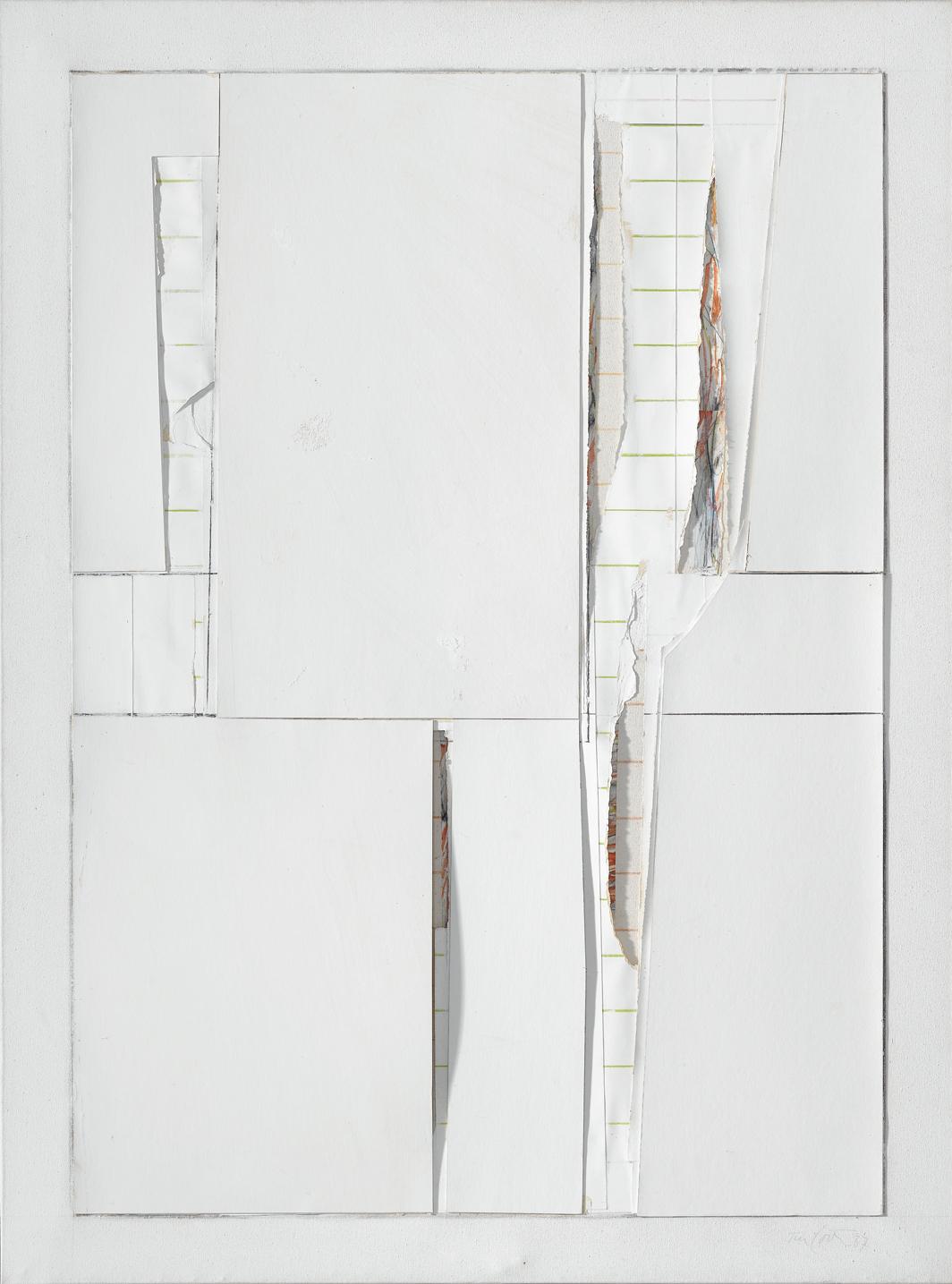 Rafael Tur Costa, untitled, 1987, graphite, colored pencil, and paper on canvas, 51 1⁄8 × 38 1⁄4