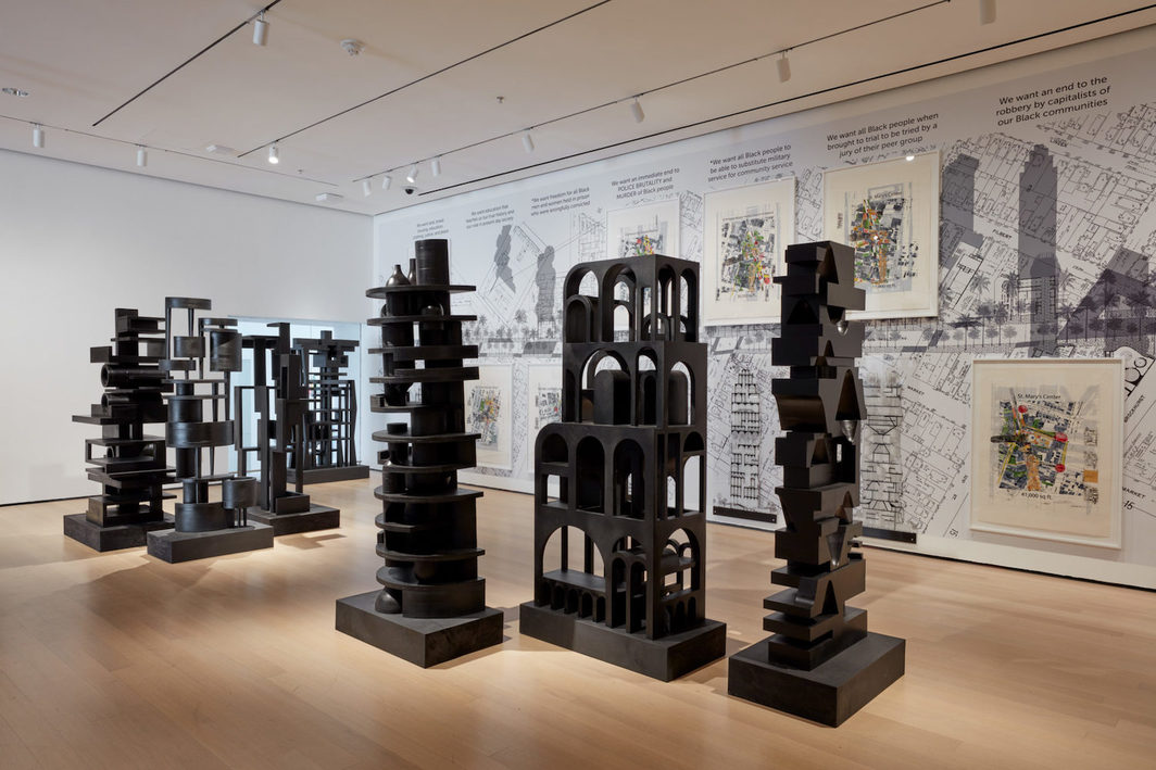 """Installation view of """"Reconstructions: Architecture and Blackness in America,"""" at The Museum of Modern Art, New York. Photo: Robert Gerhardt."""