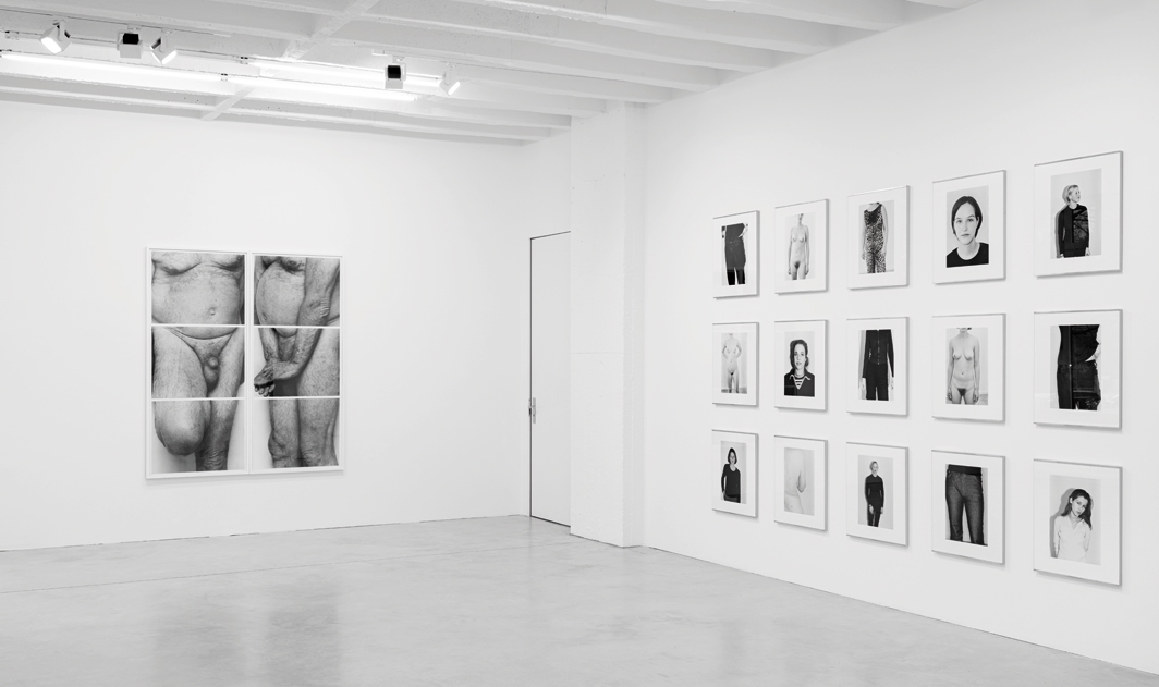 "View of ""John Coplans and Michael Schmidt: The Lingering Drama of the Body,"" 2020–21. From left: John Coplans, Self Portrait, Frieze No. 5, 1994; Michael Schmidt, works from the series ""Frauen"" (Women), 1997–99. Photo: Gerhard Kassner."