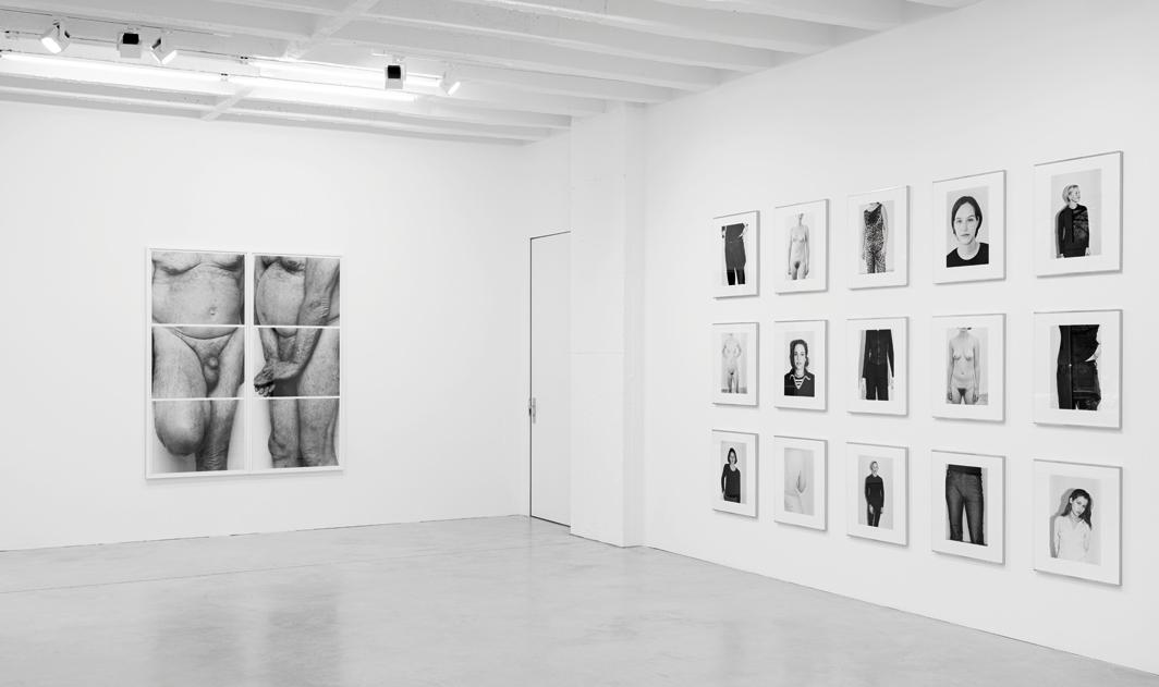 "View of ""John Coplans and Michael Schmidt: The Lingering Drama of the Body,"" 2020–21. From left: John Coplans, Self Portrait, Frieze No. 5, 1994; Michael Schmidt, works from the series ""Frauen"" (Women), 1997–99. Photo: Gerhard Kassner."