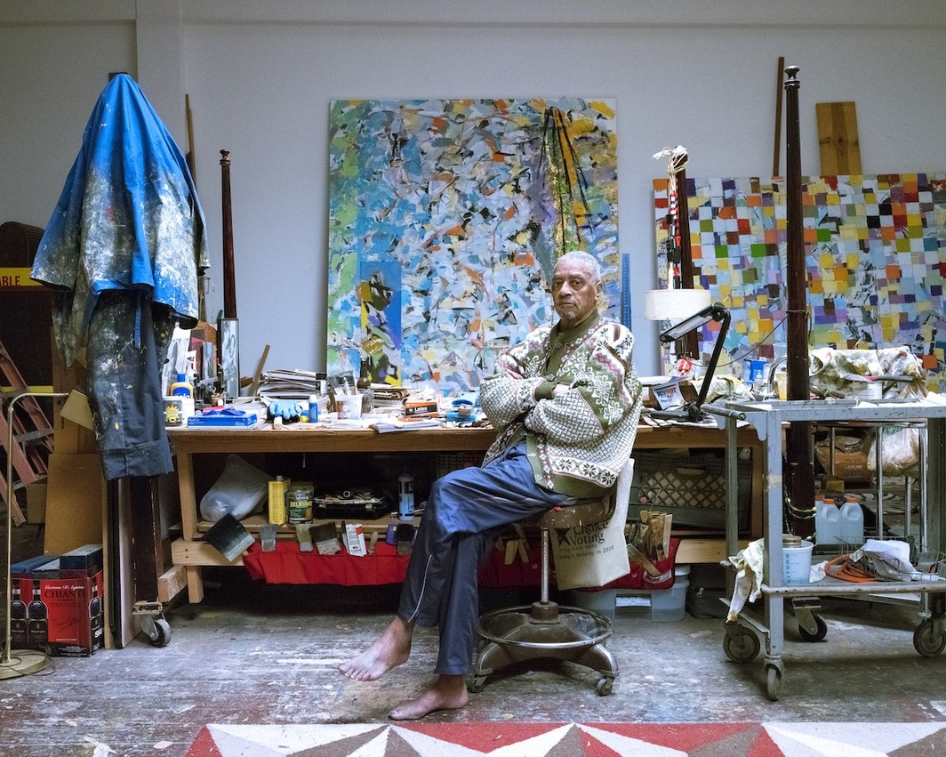 Arthur Monroe in his studio at the Cannery. Photo: Kirk Crippens and Torre McQueen. Courtesy of the Oakland Cannery Collective.