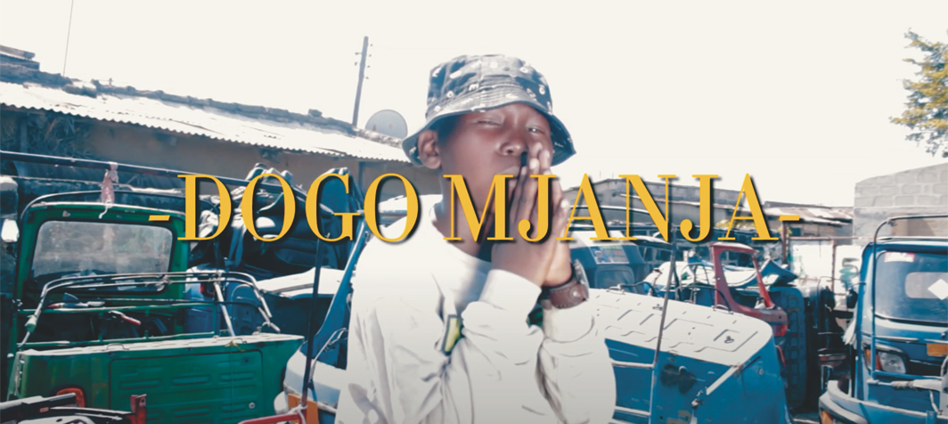 *Still from Jay Mitta featuring Dogo Mjanja's 2019 video _Tatizo Pesa _(Money Problem), directed by Pillo X. *Dogo Mjanja.
