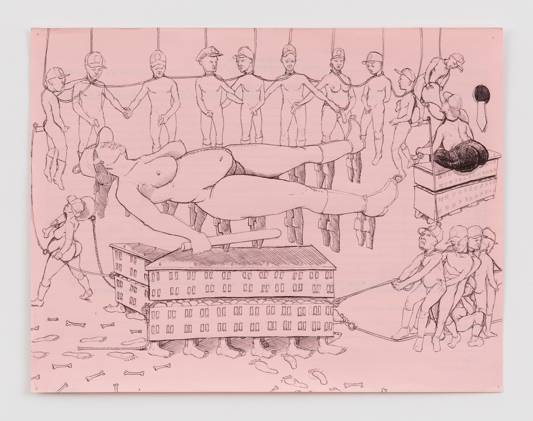"James ""Yaya"" Hough, Untitled, 2008–2016,paper, ink, pencil, 8 1/2 x 11"