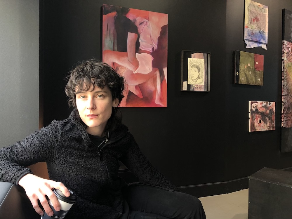 Artist Leda Bourgogne in her exhibition at QBBQ. All photos unless noted: Kristian Vistrup Madsen.