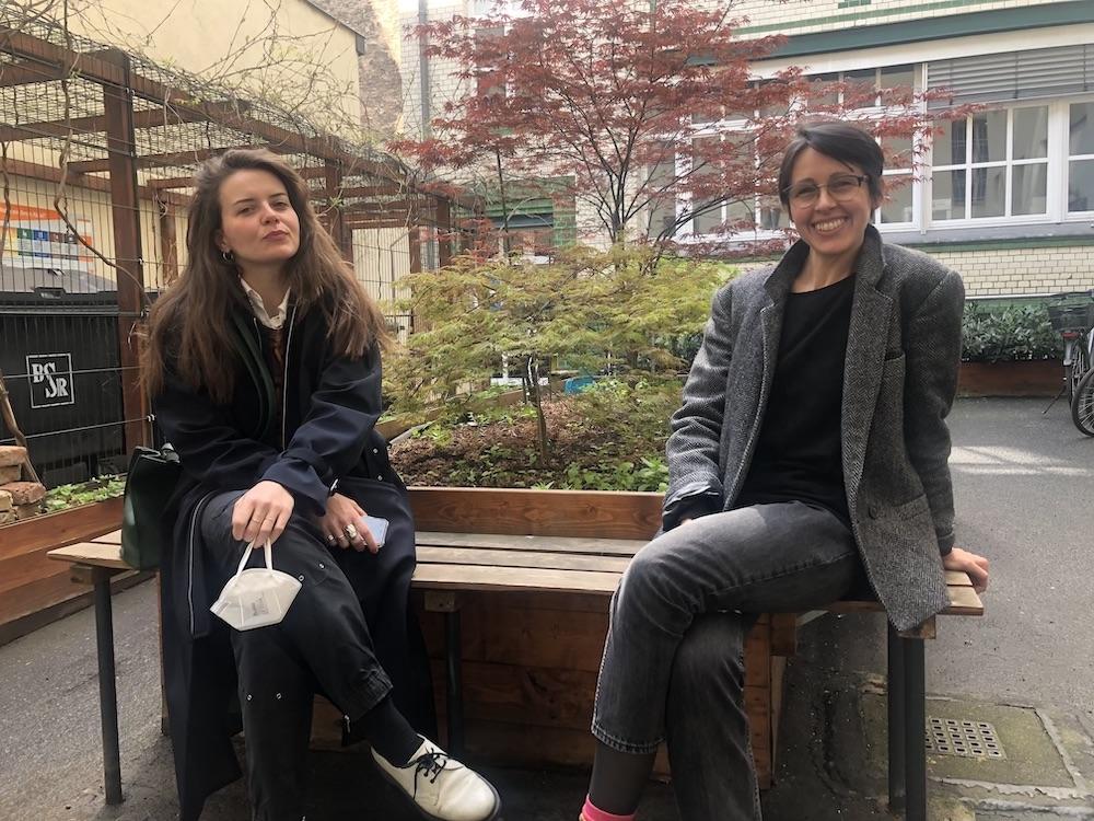 Artnet editor Kate Brown and dealer Jennifer Chert of ChertLüdde.