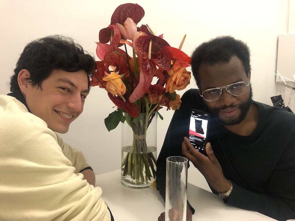 Dealer Lucas Casso and artist Kayode Ojo.