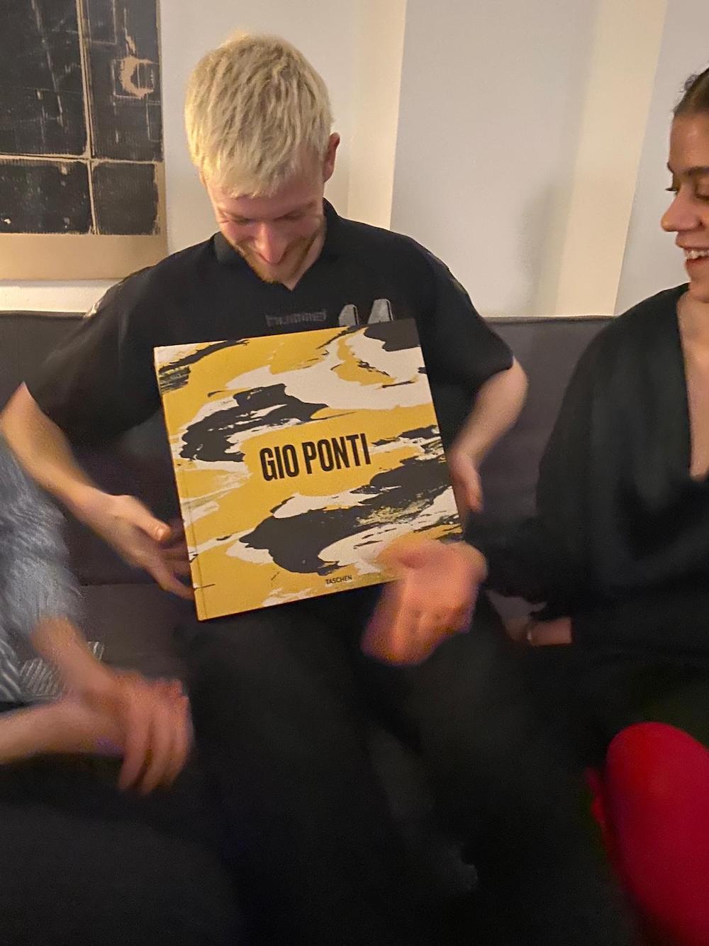 Karl Kolbitz presenting his new Gio Ponti book for Taschen.