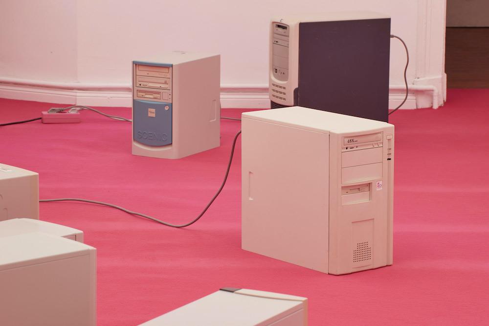 Gerrit Frohne-Brinkmann, ILOVEYOU (detail), 2021, framed inkjet print on paper, vintage computers, malware.